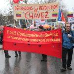Bannière du Parti communiste du Québec