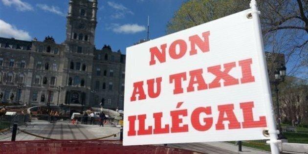 Manifestation contre la loi 17 à Québec
